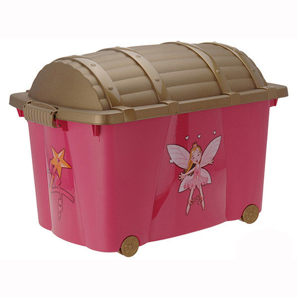 Kids Storage Bench Furniture Toy Box Bedroom Playroom: Princess Chest Kids Toy Box With Wheels Childrens Playroom