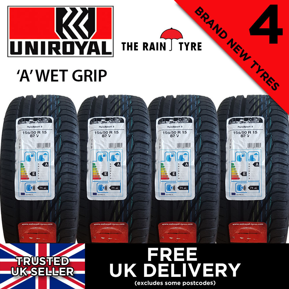 4x new 195 50 15 uniroyal rainsport 3 82v 195 50r15 4 tyres max wet grip tyre ebay. Black Bedroom Furniture Sets. Home Design Ideas
