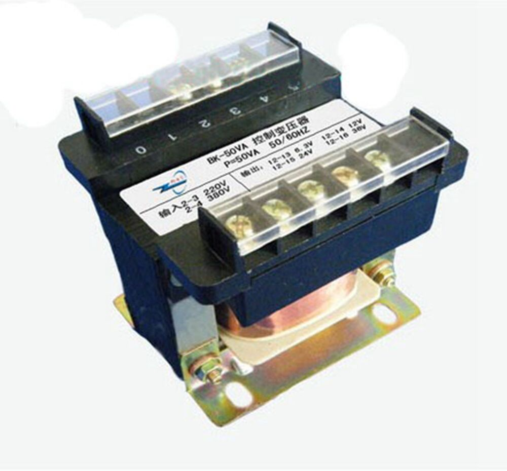 1 output ac 6 3v 12v 24v 36v 110v 220v single phase control transformer 50va ebay. Black Bedroom Furniture Sets. Home Design Ideas