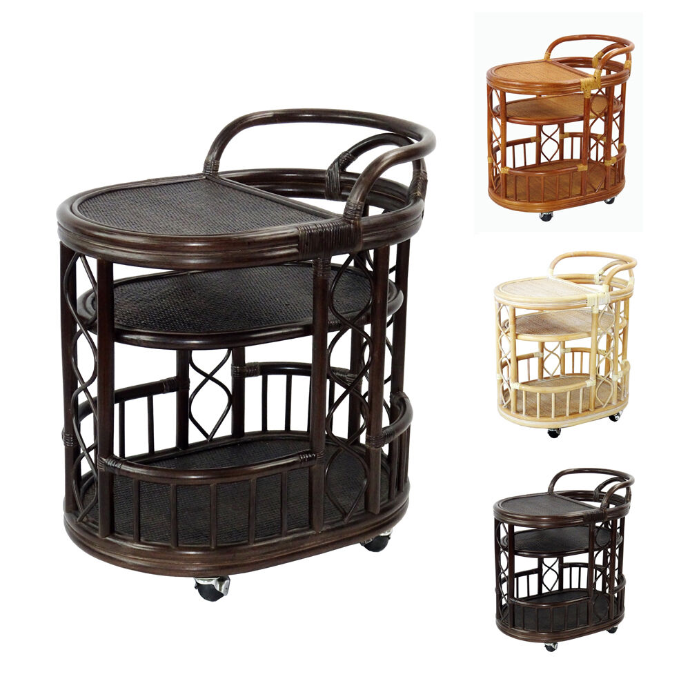 Trolley Handmade Rattan Wicker Serving Moving Cart w  : s l1000 from www.ebay.com size 1000 x 1000 jpeg 134kB