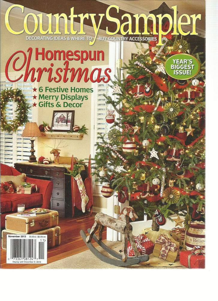 COUNTRY SAMPLER NOVEMBER 2013 DECORATING IDEAS WHERE TO BUY