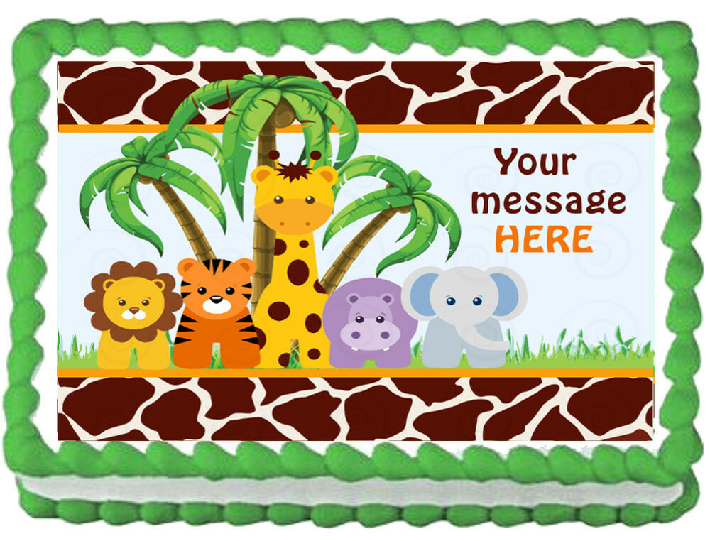 Jungle Cake Decorations Edible