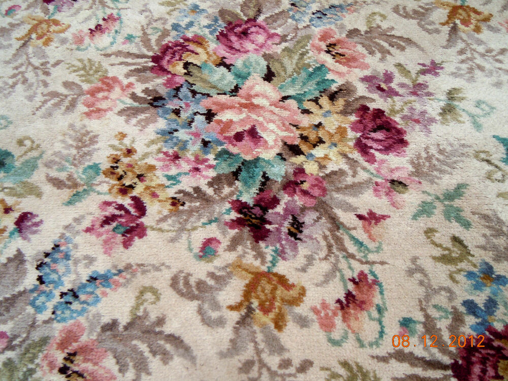 Best Extra Large Alexander Smith Vintage French Floral