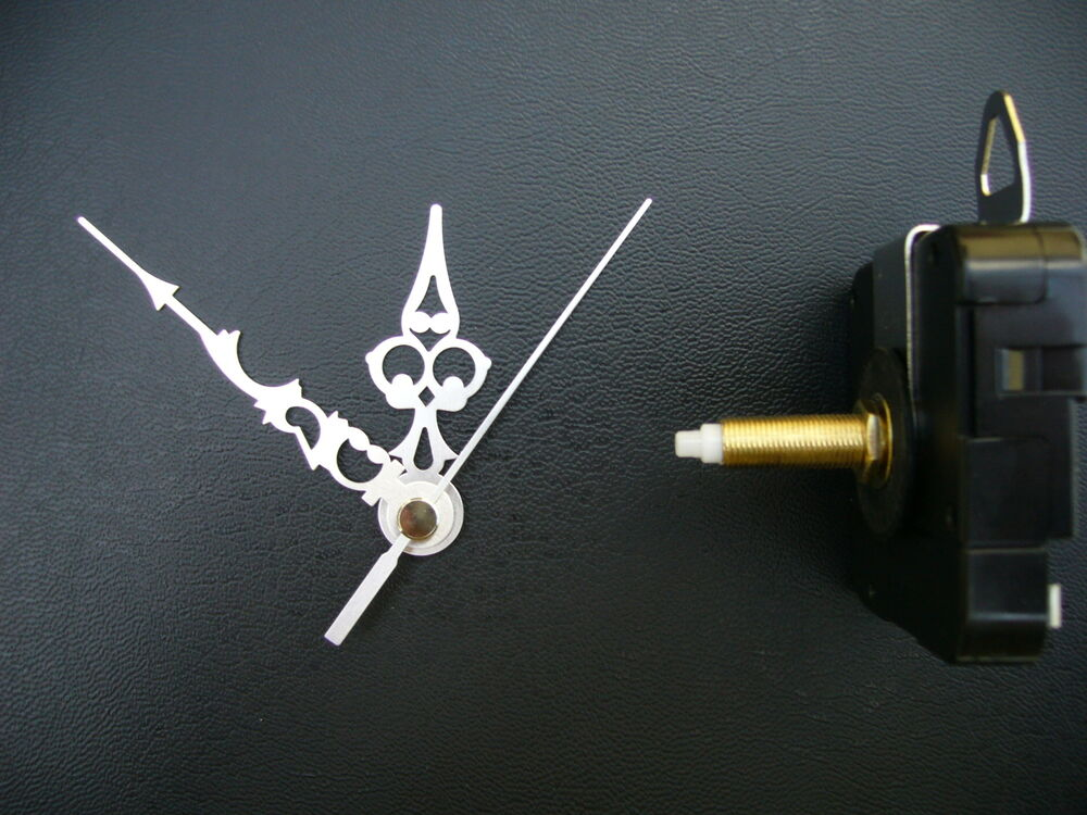 Clock Mechanism Quartz Extra Long Spindle 76mm Silver