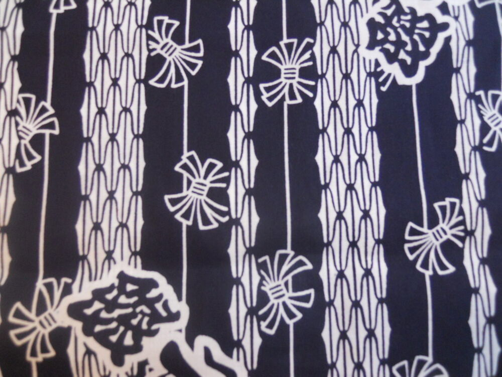 Japanese Cotton Yukata Fabric blue and white 406r | eBay
