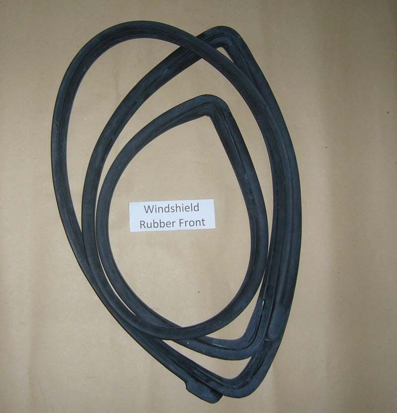 Weatherstrip Windshield Rubber W Mould Front Seal Fits