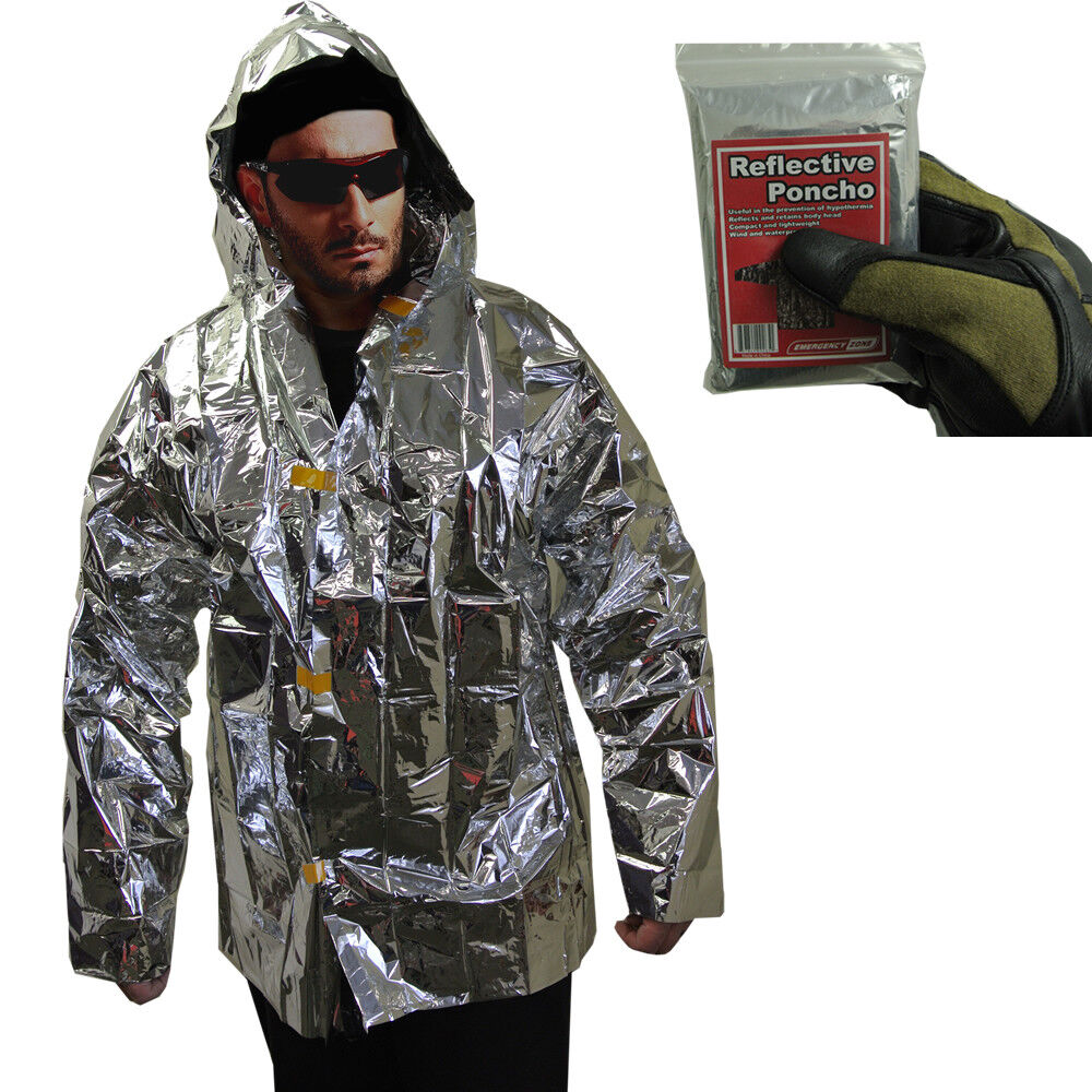 Lightweight Reflective Survival Jacket Reflects Heat For