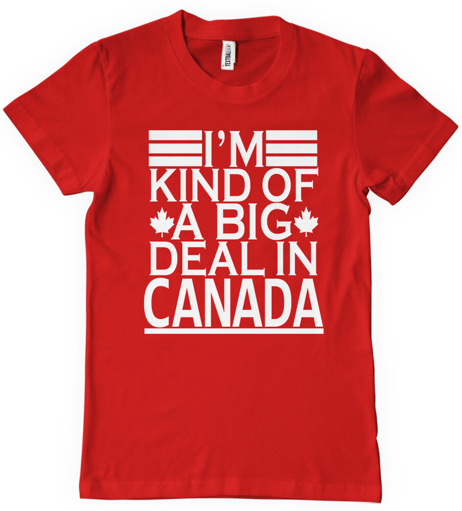 I 39 m kind of a big deal in canada t shirt funny retro for Retro nhl t shirts