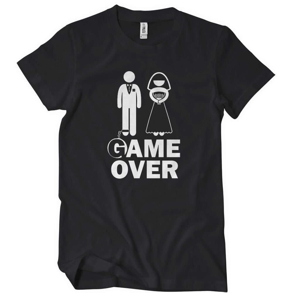 Game Over T-Shirt Funny Bachelor Party TEE Wedding ...