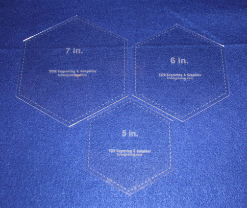 How To Use Acrylic Quilting Templates : Hexagon Quilting Templates - 3 Pc Set 5