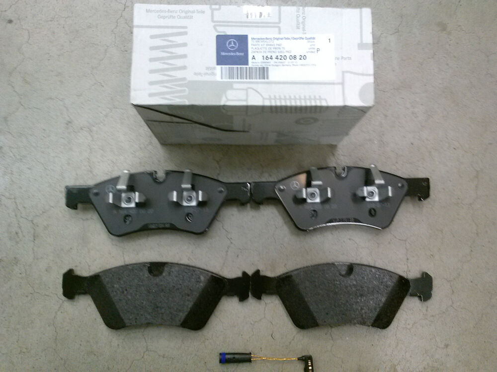 Genuine oem mercedes benz m class ml w164 front brake pad for Mercedes benz e350 brake pads replacement