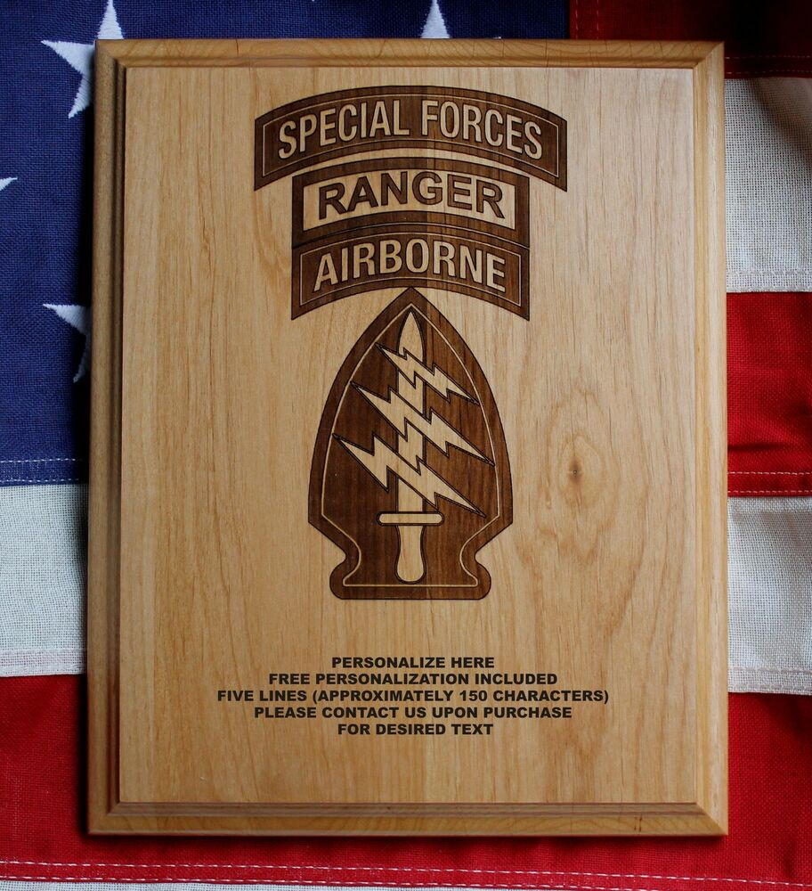 Personalized SPECIAL FORCES PLAQUE, AIRBORNE, RANGER