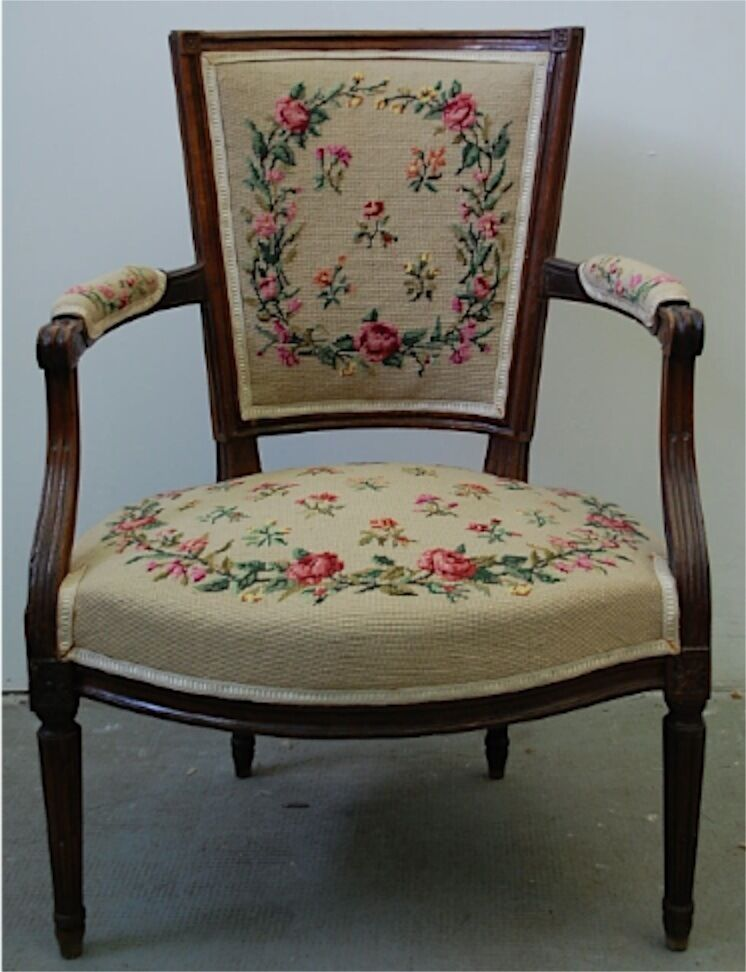 fauteuil d 39 epoque louis xvi 16 xviii 18 ancien cabriolet french armchair chair ebay. Black Bedroom Furniture Sets. Home Design Ideas