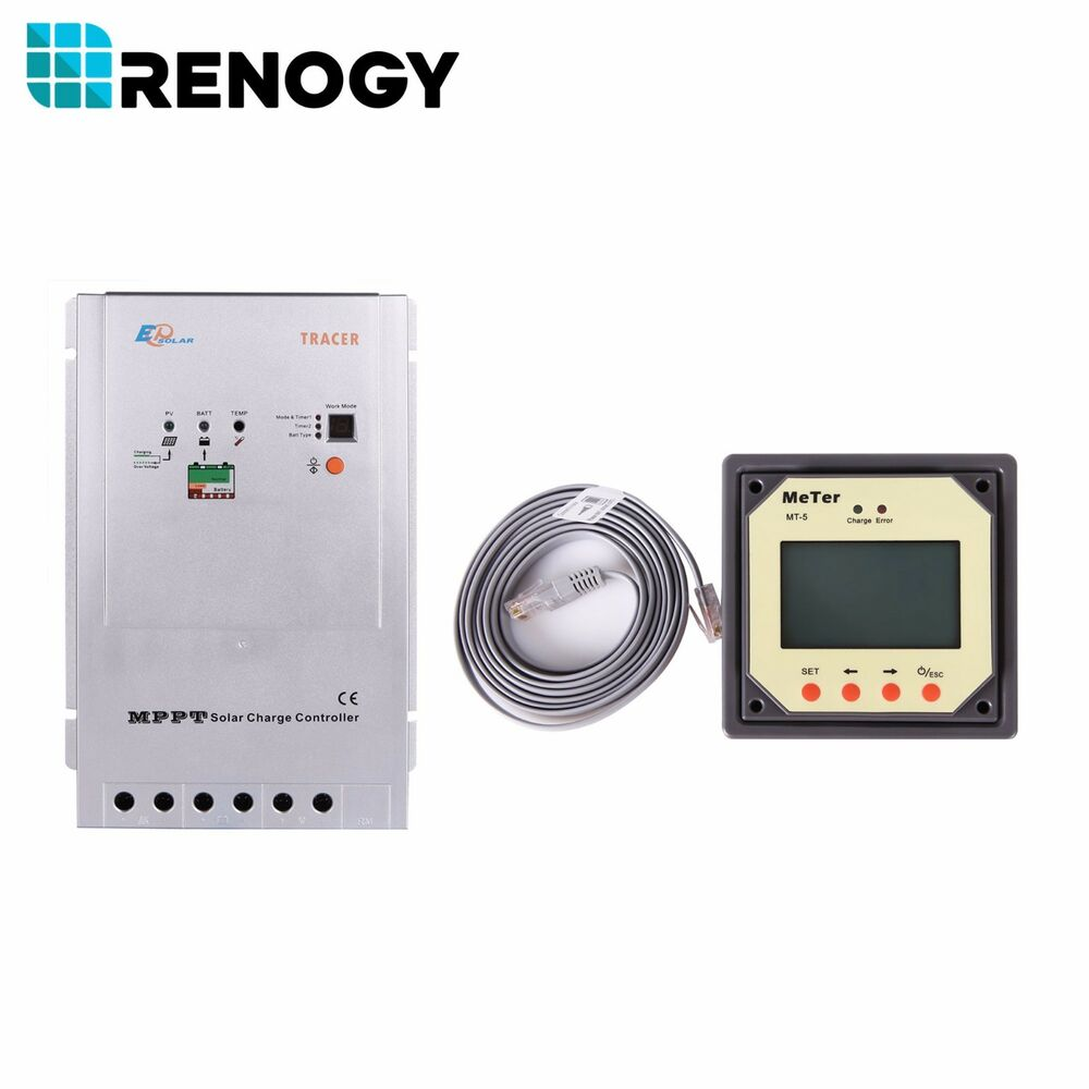 Renogy Mppt 40amp Charge Controller With Mt 5 Tracer Meter