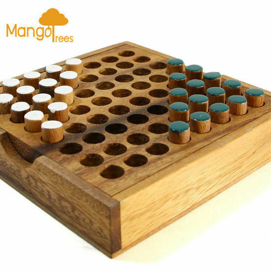 Wood Board Games ~ Head to pin classic wood d logic wooden family