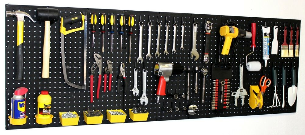 Wallpeg 72 Quot Wide Pegboard Kit Peg Hooks Amp Bins Garage