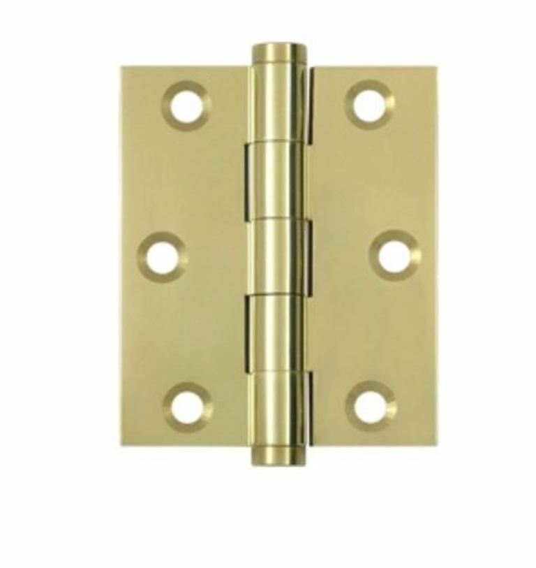Door hinges 3 x 2 1 2 square corner hinge 5 finishes by for Door 1 2 or 3