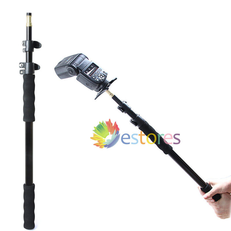 Light Stand Pole: 158cm Extension Telescopic Rod Stand Pole For Studio Flash