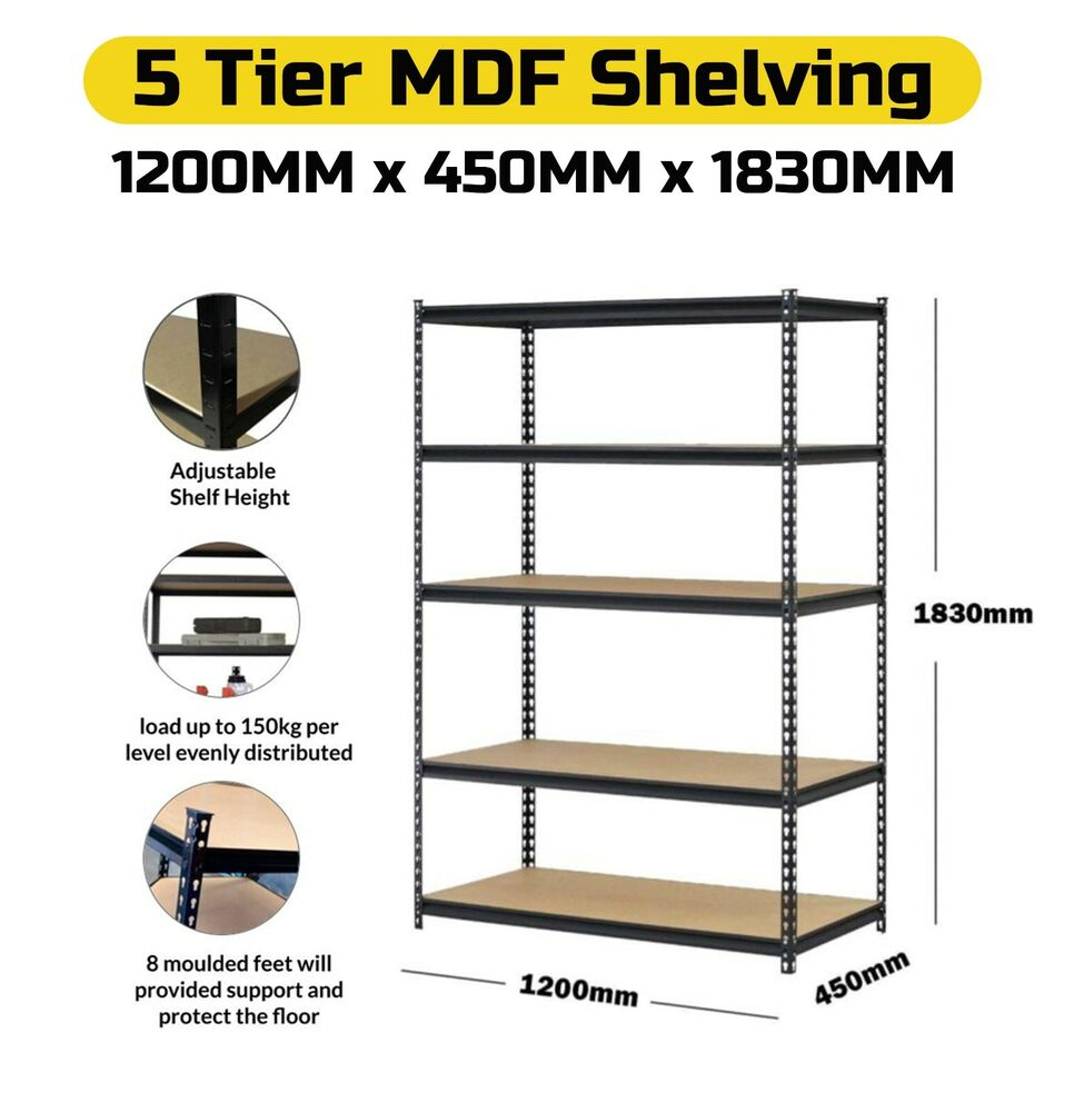 metal shelf rack 5 layer 120cm metal steel garage shelf warehouse shelves 23277