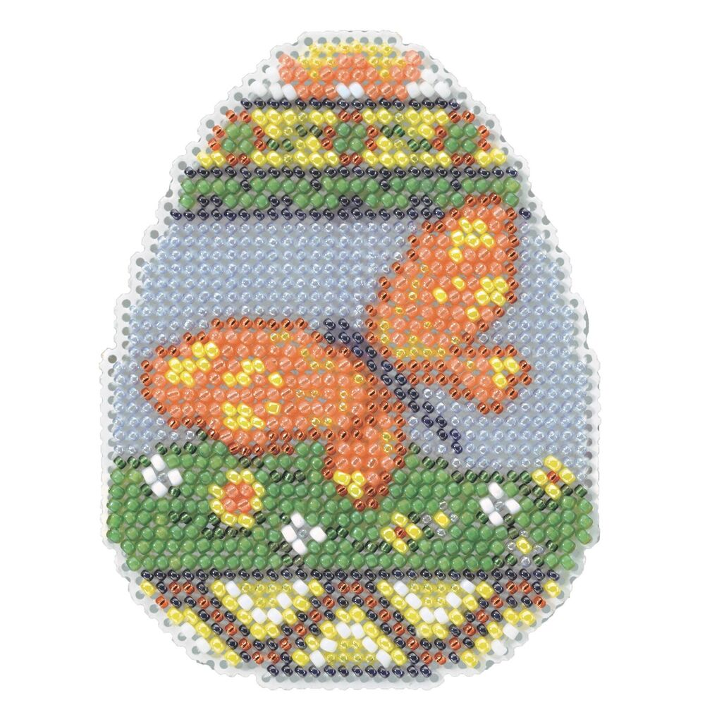 butterfly egg beaded cross stitch kit mill hill 2014