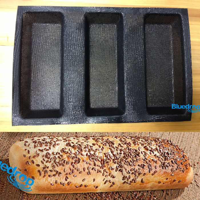 Silicone Fiberglass French Bread Baking 3 Loaves Mold