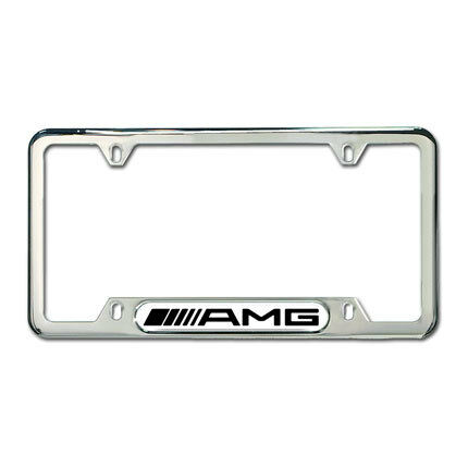 genuine mercedes benz amg polished stainless steel license