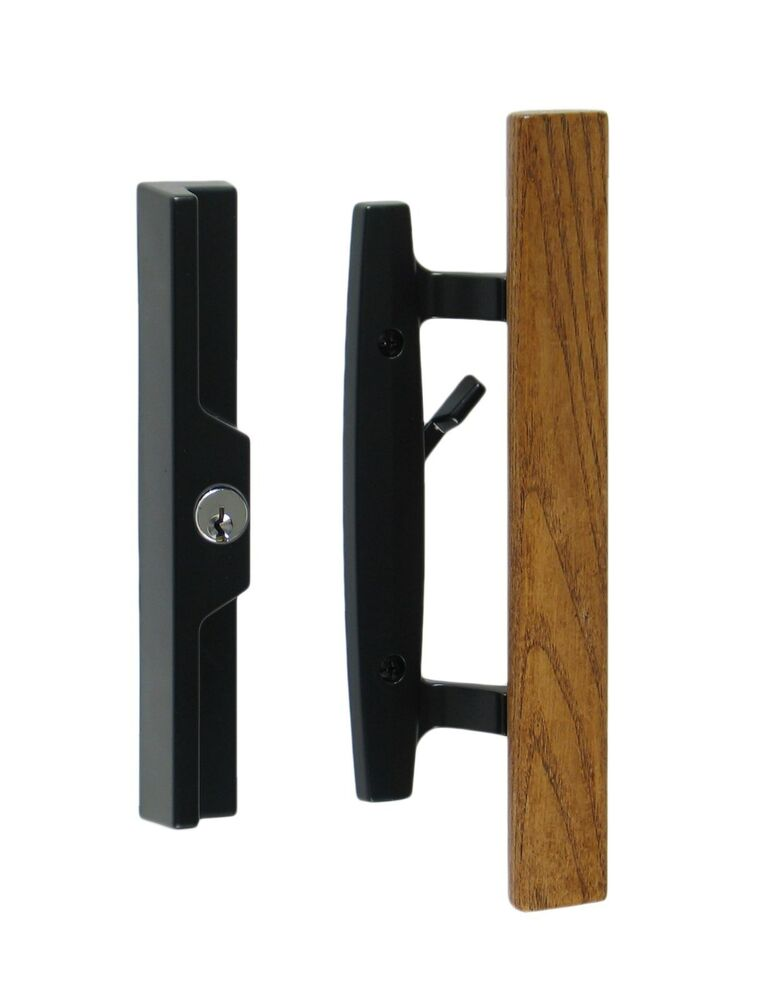 Lanai sliding glass patio door handle pull set for Sliding glass doors hardware
