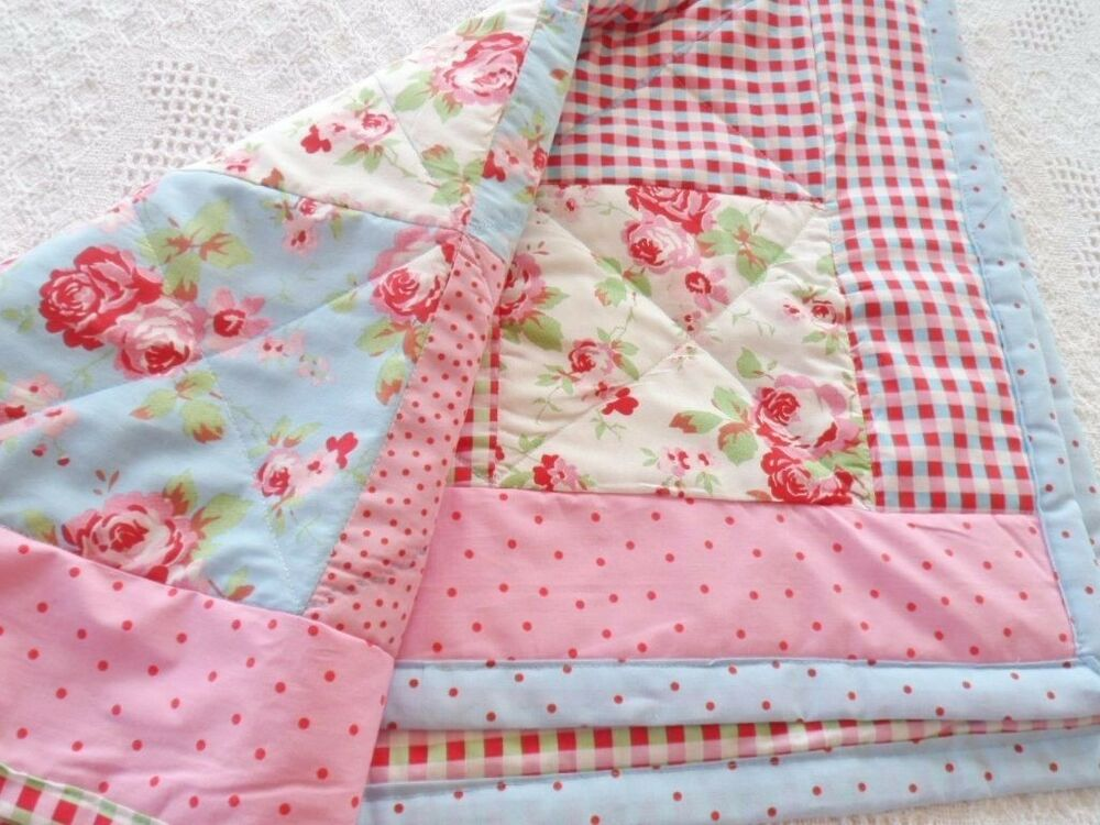 Patchwork Quilting Kit Cath Kidston Fabrics Cot Baby Quilt