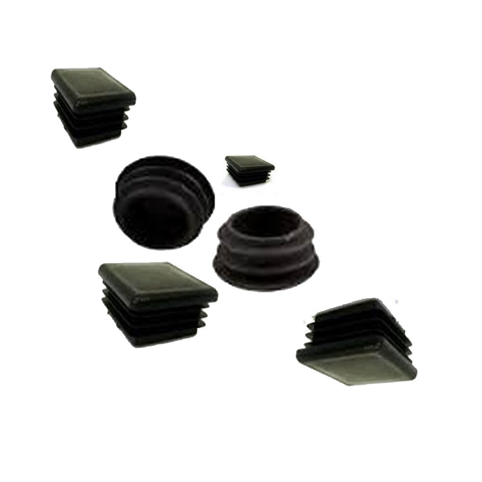 Square plastic cap inserts ends for steel tube
