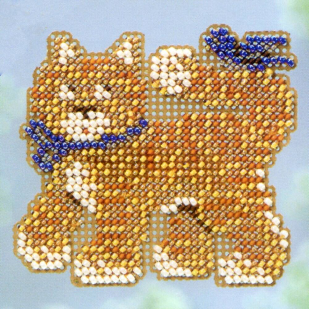 cool cat beaded cross stitch kit mill hill 2013