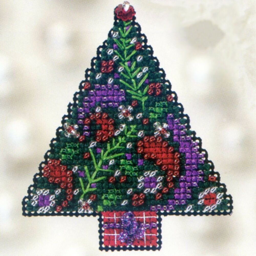 paisley tree beaded cross stitch kit mill hill 2012 winter