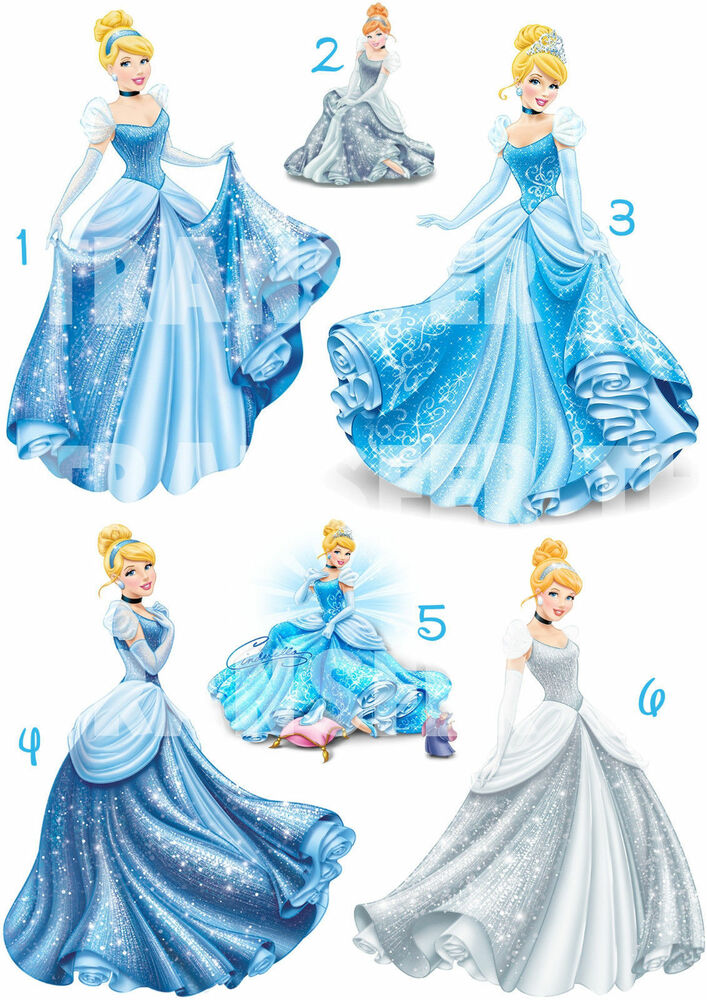 cendrillon disney sticker autocollant ou transfert textile vetement ebay. Black Bedroom Furniture Sets. Home Design Ideas