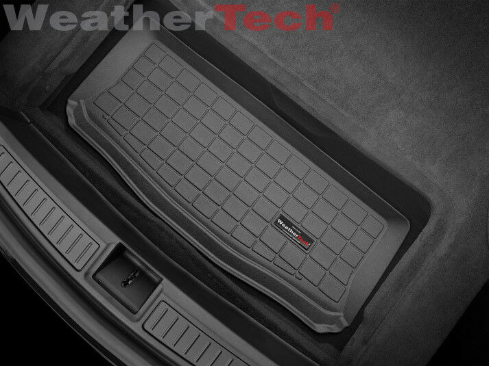 weathertech cargo liner for tesla model s rear cargo well 2014 2016 black ebay. Black Bedroom Furniture Sets. Home Design Ideas
