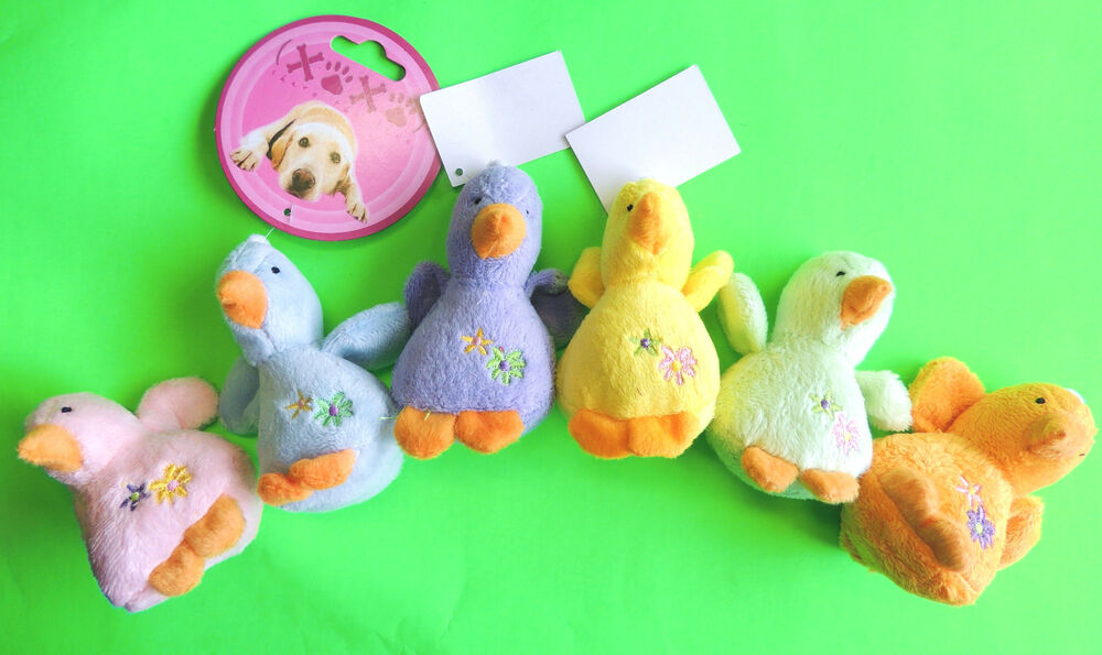 1 4 Quot Soft Plush Adorable Baby Duck Squeak Small Dog Toy