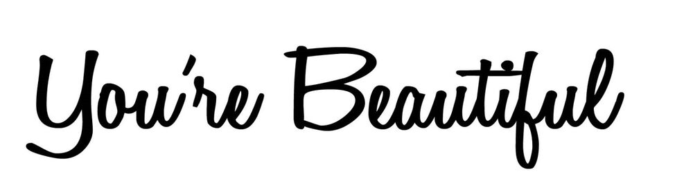 You Re Beautiful Mirror Bathroom Wall Quote Vinyl Decal