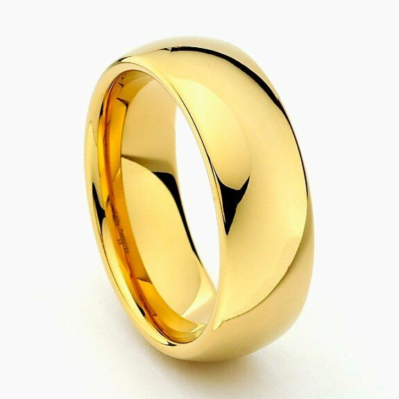 mens classic wedding band ring engagement yellow gold On classic men s wedding bands