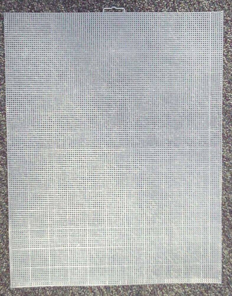 Fifty 50 Sheets 10 Mesh Plastic Canvas Clear Ebay