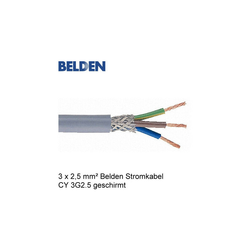 Belden stromkabel netzkabel cy 3g2 5 geschirmt meterware for Cable 3g2 5 brico depot