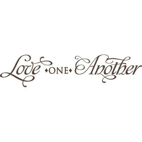 Love one another wall art decal quote words lettering for Another word for decoration