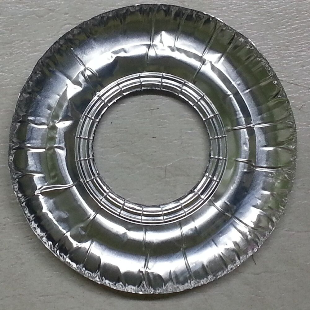 40 Aluminum Foil Round Gas Burner Disposable Bib Liners