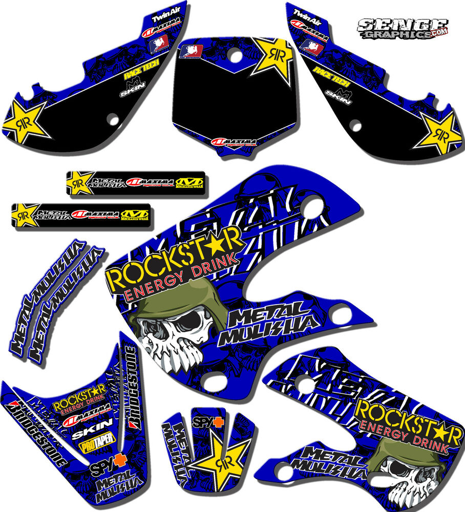1993 1994 1995 yz 125 250 graphics yamaha yz125 yz250 deco for Sticker deco