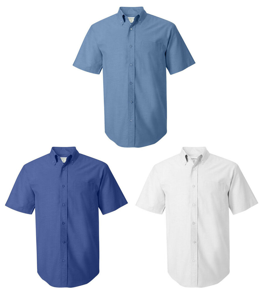 Featherlite short sleeve oxford shirt mens dress shirt for Mens short sleeve oxford shirt
