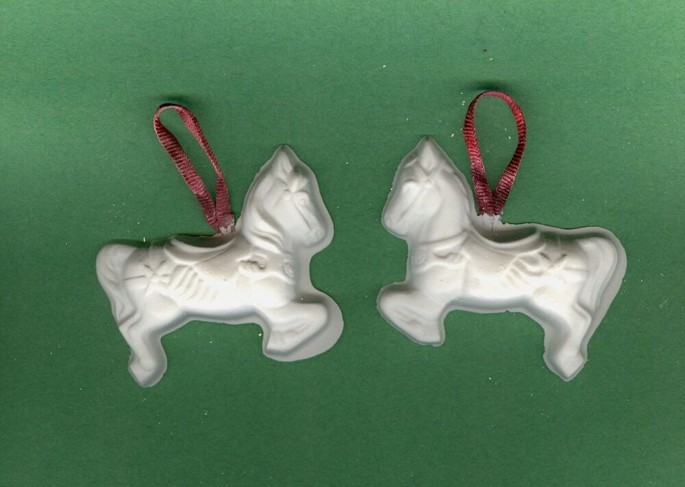 Carousel horse ornaments plaster of paris painting project for Plaster crafts to paint