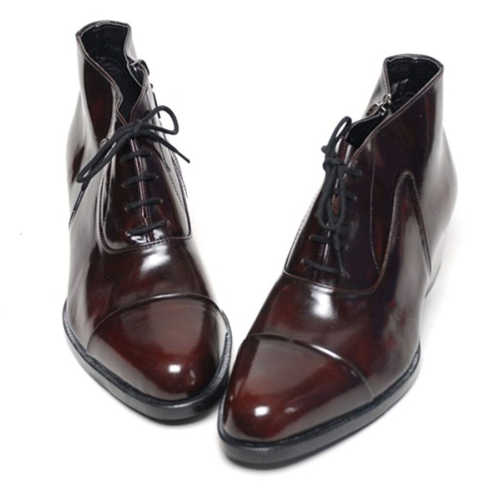 Epicsnob Mens Shoes Genuine Cow Leather Dress Formal Ankle
