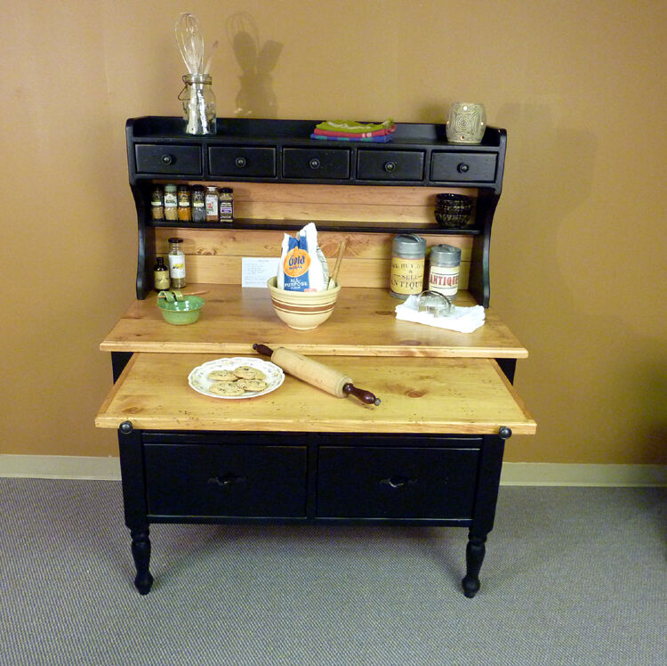 Missouri pine baking cabinet antique hoosier reproduction for Reproduction kitchen cabinets