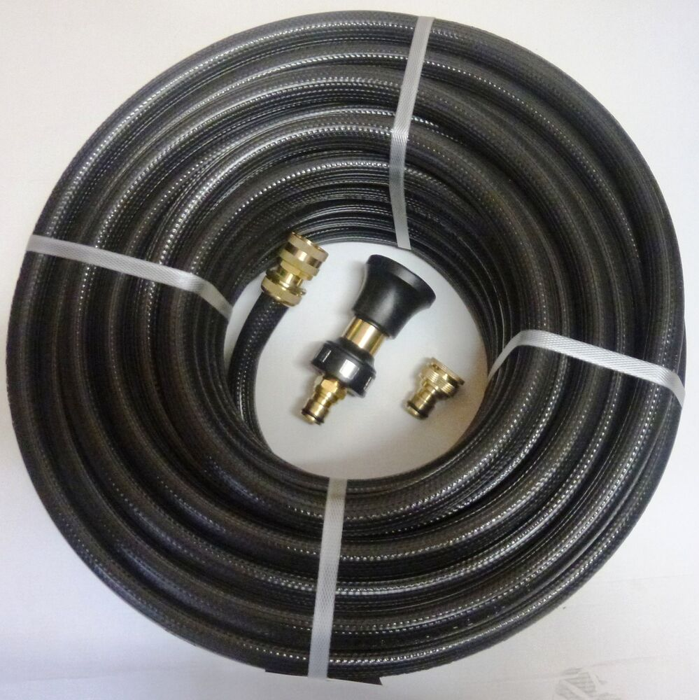 fire fighting reel water hose pipe 18mm 3 4 x 36m australian brass nozzle fitted ebay. Black Bedroom Furniture Sets. Home Design Ideas