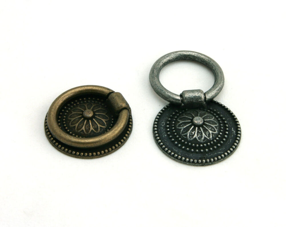 antique decorative cabinet drawer drop ring pulls cupboard knobs