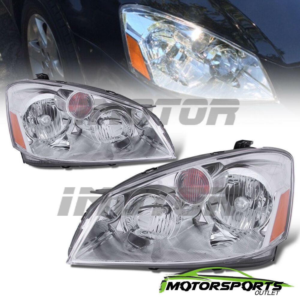 Headlights For 2006 Nissan Altima: For 2005 2006 Nissan Altima 4Dr Sedan Factory Style Chrome
