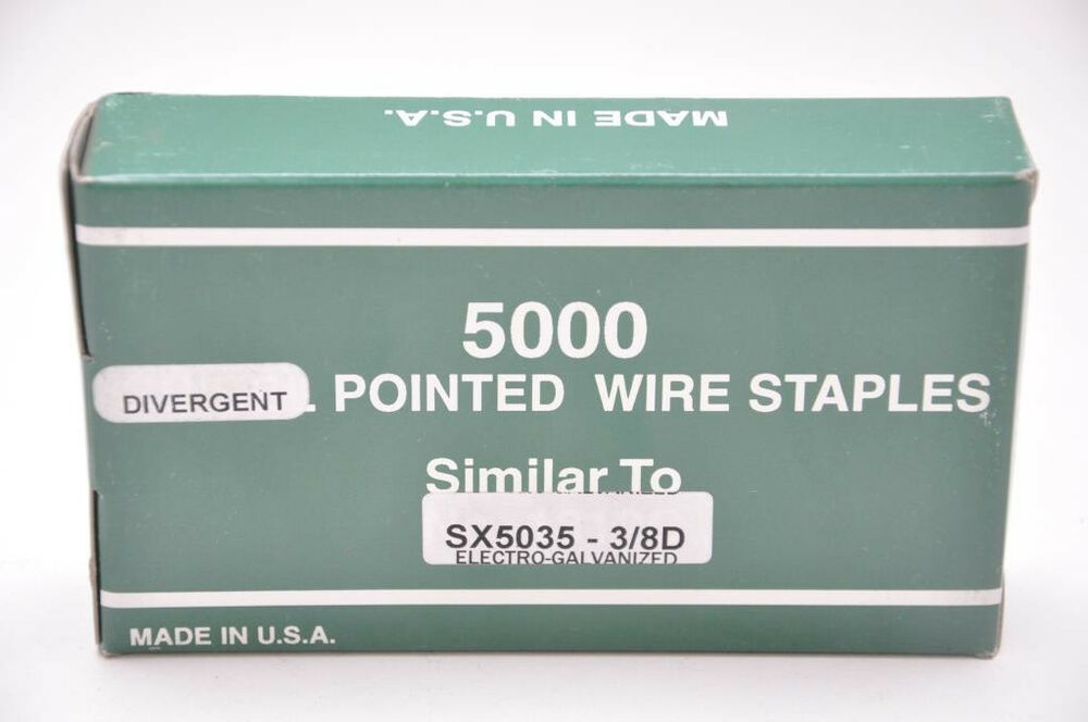 Bostitch SX5035 3/8D Div. Point Staple, Galv. 1 case of 16 boxes ...