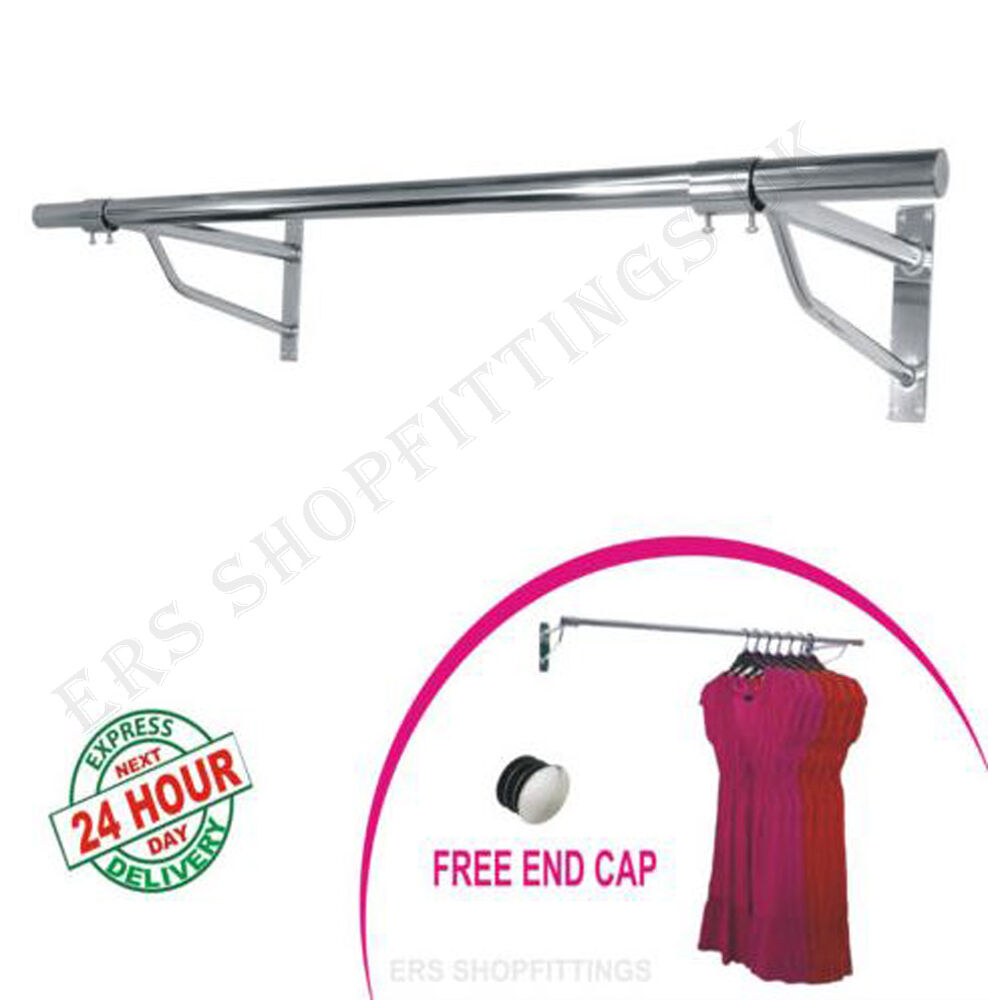 Garment Clothes Rail Wall Mounted Hanging Rail Shop